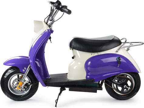 Scooter 350 Watt 24 Volt by Mototec 350 Watt 24 Volt Electric Moped Scooter In Purple