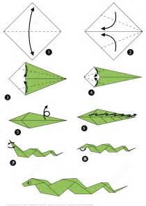 Origami Paper Step By Step - how to make an origami snake step by step