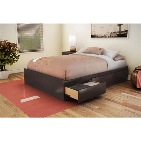 mates bed south shore mates bed chocolate the home depot