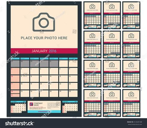 Info 12 Agustus 2016 Print Layout Error Wall Calendar Planner For 2016 Year Vector Design Print