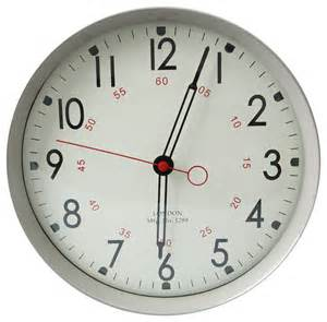 modern wall clock adeco gray iron round wall school clock with large numbers contemporary wall clocks by