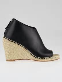Leather Wedges 1 black leather open toe espadrille wedges size 7 5 38 yoogi s closet