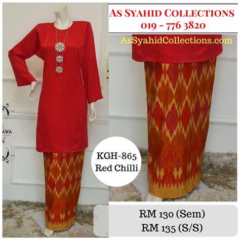 Baju Kurung Merah Cili baju kurung pahang songket bali koleksi gemersik hawa syaisya
