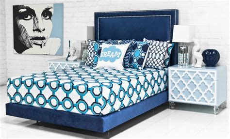 blue velvet bed www roomservicestore com palm beach bed in patriot blue