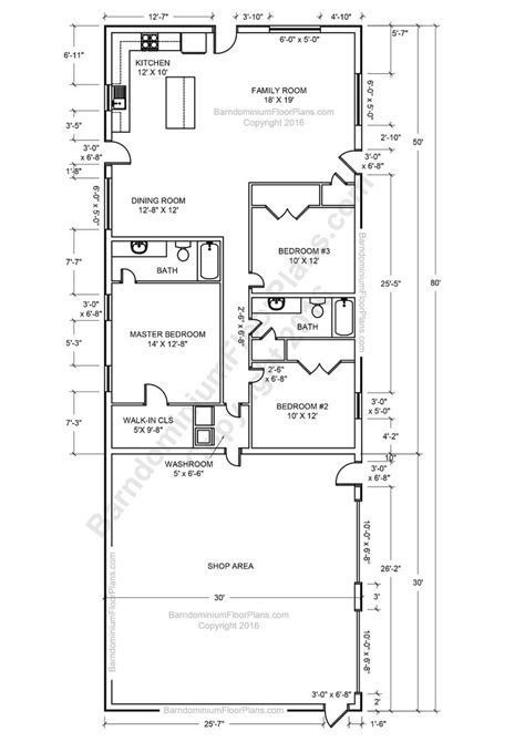 pole barn floor plans top 20 metal barndominium floor plans for your home