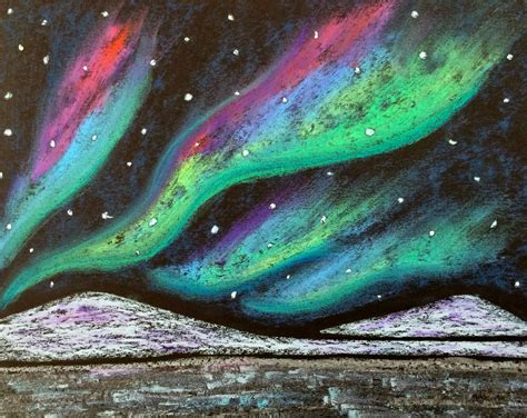 Northern Lights Painting Kathy S Angelnik Designs Amp Art Project Ideas Northern