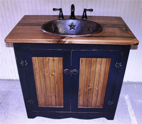 Bathroom Vanity Fh1296 36 Rustic Farmhouse Bathroom Vanity Bathroom Vanity With Copper Sink