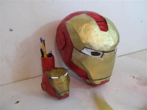 How To Make A Helmet Out Of Paper Mache - how to make the iron helmet