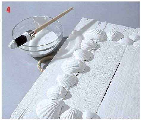 come decorare una cornice di legno cornice in legno fai da te con conchiglie