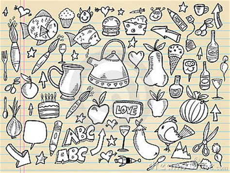 doodle time designs notebook doodle design set royalty free stock photography