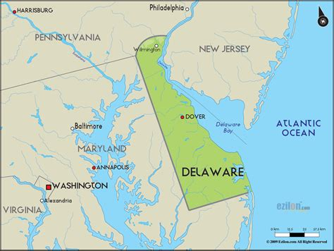 delaware on usa map geographical map of delaware and delaware geographical maps
