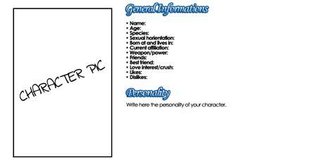 character bio template character bio template images template design ideas