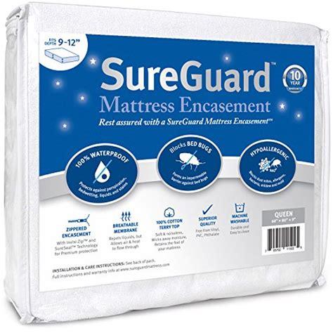 Sureguard Mattress Protector by Sureguard Mattress Encasement 100 Waterproof Bed Bug
