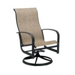 Swivel Sling Patio Chairs Woodard 2p0488 Fremont Sling High Back Outdoor Swivel