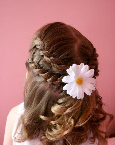 cute easy hairstyles simple braided flower updo 17 best images about pretty braids on pinterest updo my