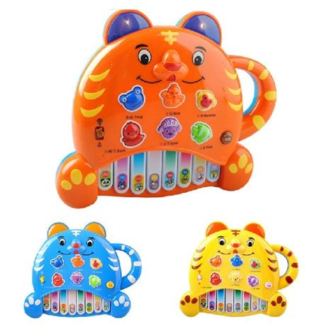 Lovely Apple Puzzle Electronic Piano Toys Blue lovely tigger puzzle electronic piano toys blue jakartanotebook
