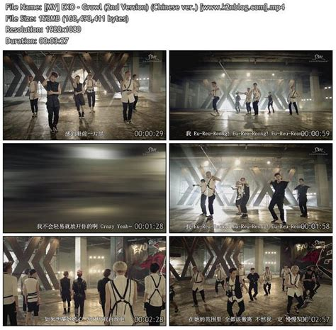 exo growl mp3 download mv exo growl 2nd version chinese ver hd