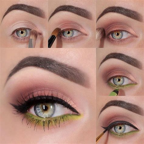 tutorial for eyeshadow brown and electric green eyeshadow tutorial beautiful shoes