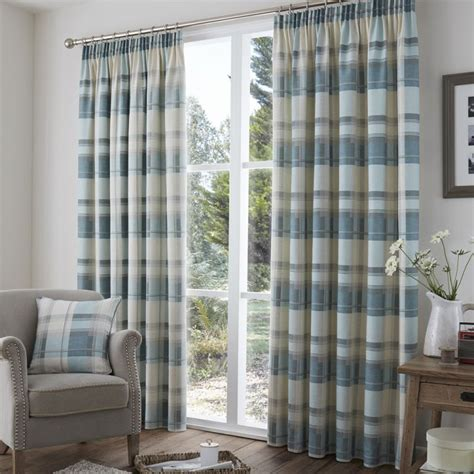 cream check curtains check tape top lined curtains red stripe