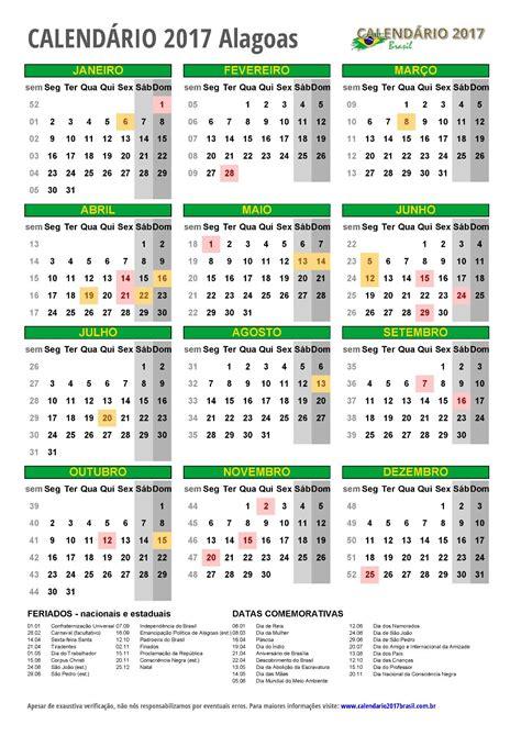 Calendario 2017 A Calend 193 2017 Para Imprimir Feriados