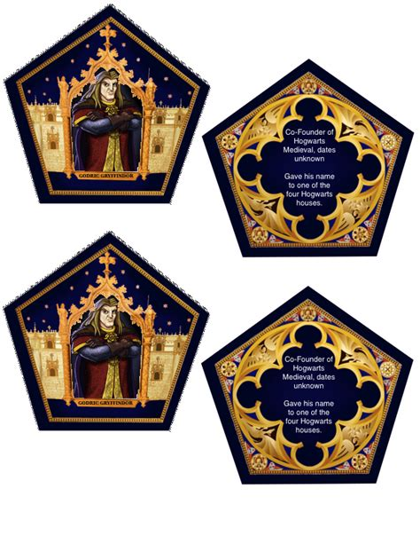 Chocolate Frog Box Template With Cards by The Empty Suitcase Chocolate Frog Cards