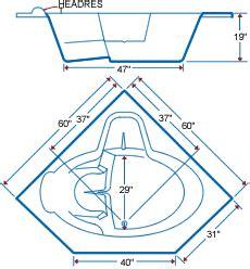 Corner Garden Tub Dimensions by American Corner