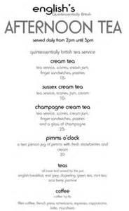 afternoon tea menu template afternoon tea the menu and teas on
