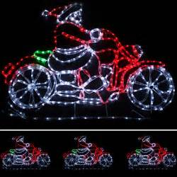 large animated santa rope lights silhouette outdoor wall