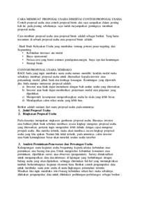 cara membuat proposal manajemen keuangan cara membuat proposal non formal cara membuat proposal