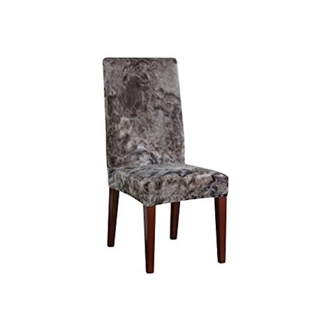 plush dining room chairs sure fit str plush tye dye dining room chair gray