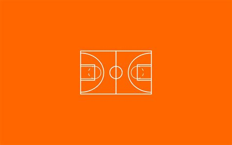 minimalism basketball court wallpaper