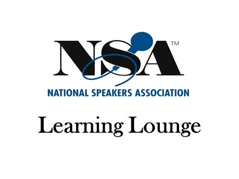 Speaker National some assembly required 2012 national speakers association quot learning lounge quot