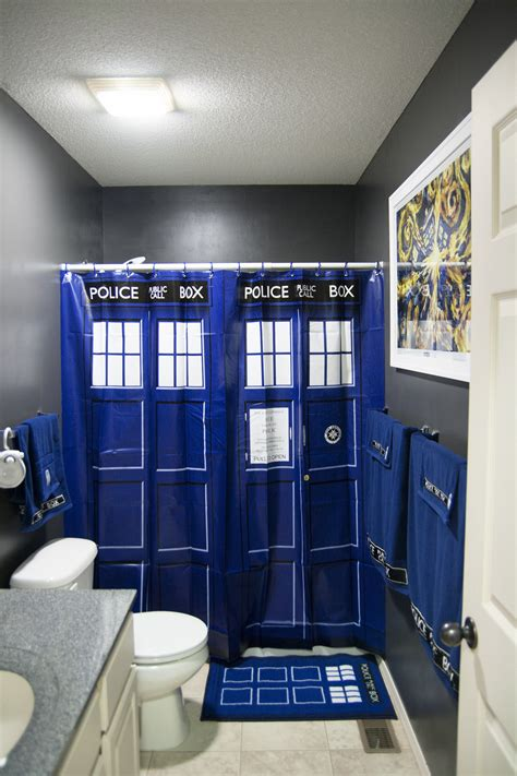 doctor who themed bathroom my newly decorated and very nerdy bathroom share your