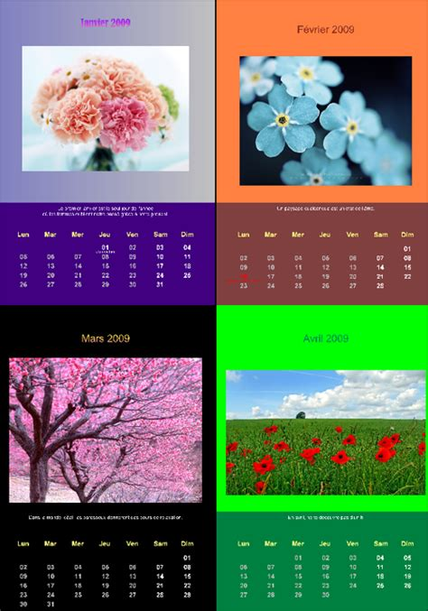 Un Calendrier Pc Astuces Cr 233 Er Un Calendrier Photo