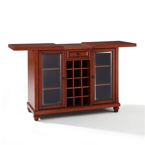 crosley cambridge sliding top bar cabinet cambridge sliding top bar cabinet cherry d kf40002dch