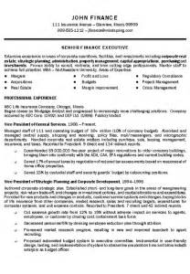 insurance executive resume exle executive resume and