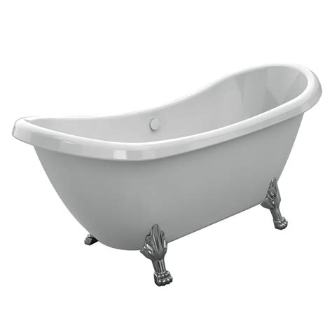 cheap clawfoot bathtub tudor 5 5 foot clawfoot tub with brushed nickel legs 431824 canada discount