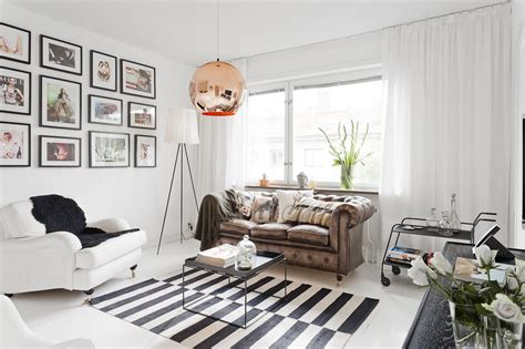 Rental Home Decorating Ideas 377ft2 scandinavian studio apartment in black and white