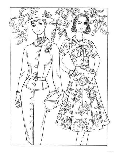 fashion coloring books 37 best historical fashion coloring pages images on