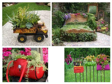 ideas para decorar un jardin con llantas de coche paisajismo pueblos y jardines ideas creativas de objetos