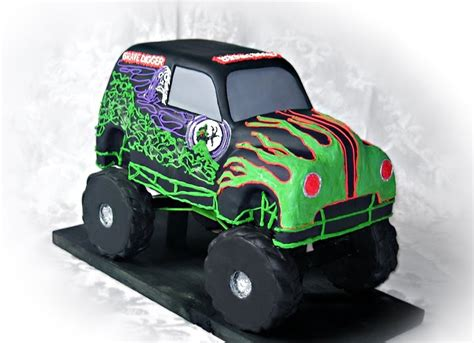 grave digger monster truck cake grave digger cakes cake ideas and designs