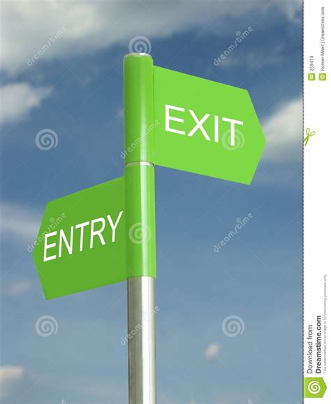 entry and exit which way out stock images image 259414