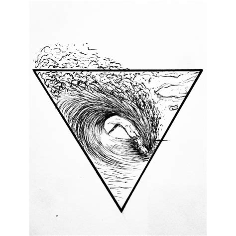 surf wave tattoo designs surf california surfer soul geometric triangle