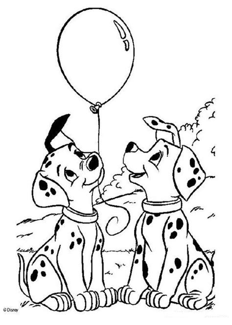 puppy coloring pages pdf 101 dalmatians coloring pages puppies with balloons az