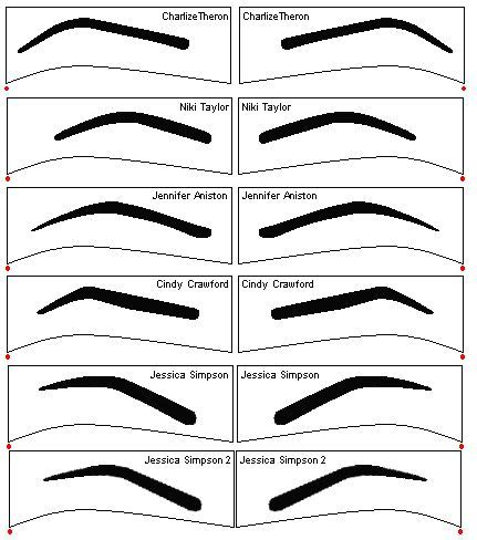 printable eyebrow shaping stencils 17 best images about p r i n t a b l e s on pinterest