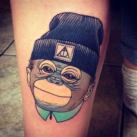 tattoo cartoon 3d tattoo cartoon monkey with cap tattoo tattooed