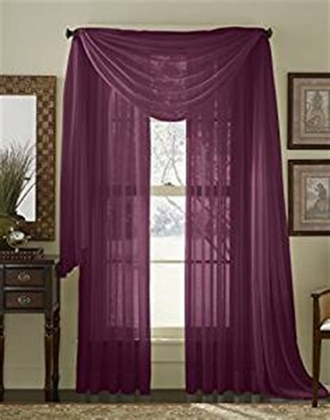 84 quot sheer curtain panel plum purple