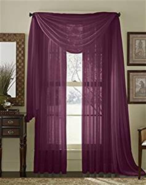 amazon com 84 quot long sheer curtain panel plum purple