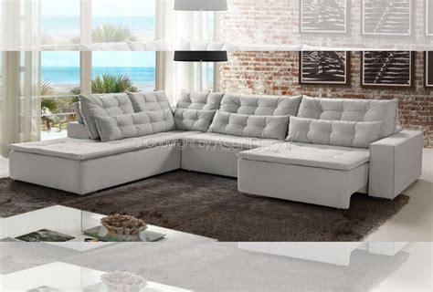 sofas em l sof 225 lanschy canto em l veludo roxo sala de estar