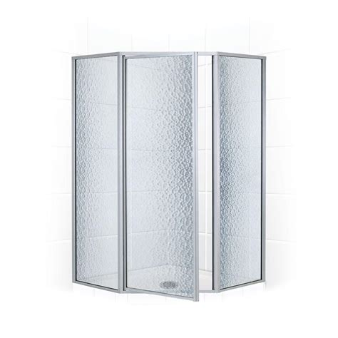 Neo Angle Glass Shower Doors Coastal Shower Doors Legend Series 58 In X 70 In Framed Neo Angle Shower Door In Platinum And
